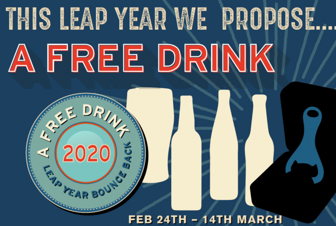 Free Drink For Leap Year 2020